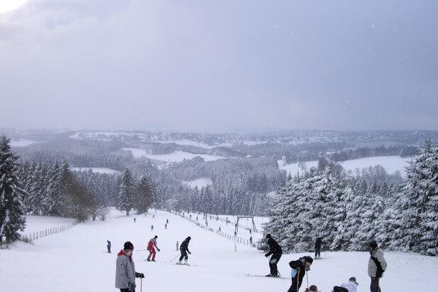 Sneeuwgebieden in de Ardennen en Duitse Eifel, vlakbij huis!